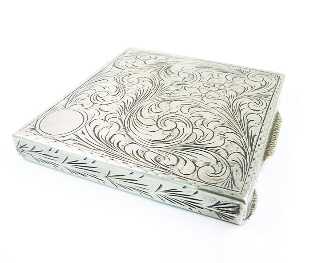 Hallmarked Silver Makeup Compact