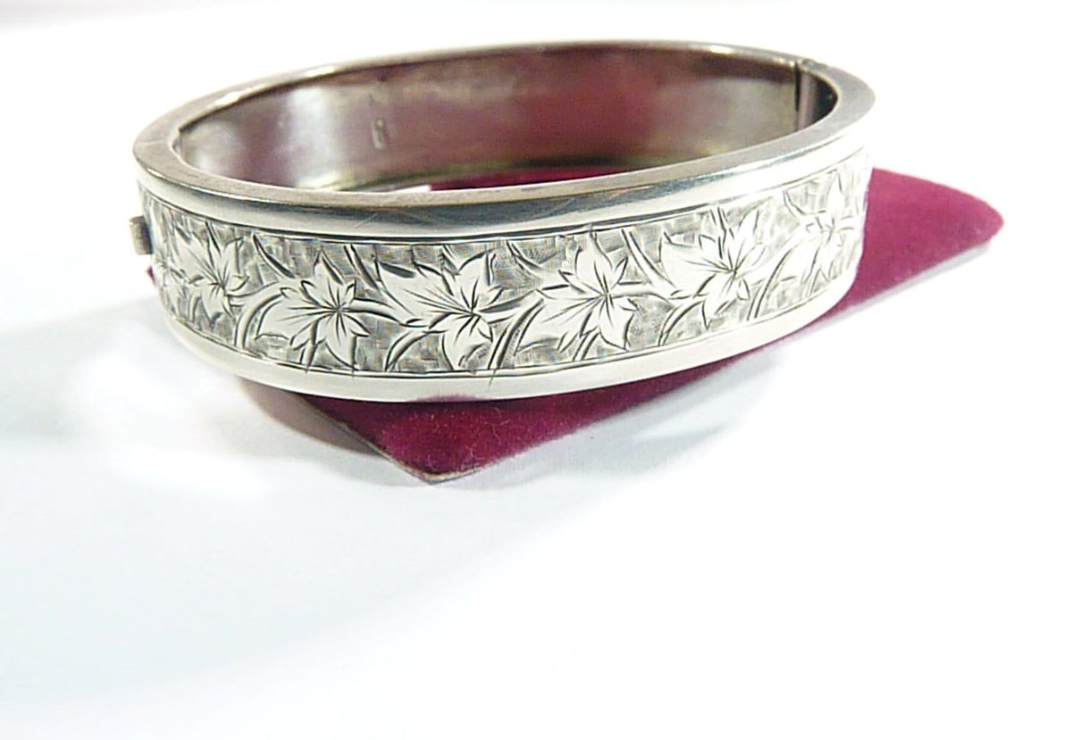 Hallmarked Victorian Solid Silver Bangles