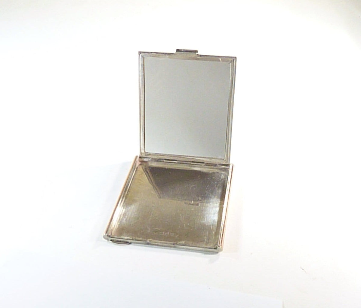 Harrods Ltd cased silver compact mirror