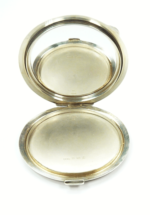 Henry Clifford Davis Silver Compact Mirror