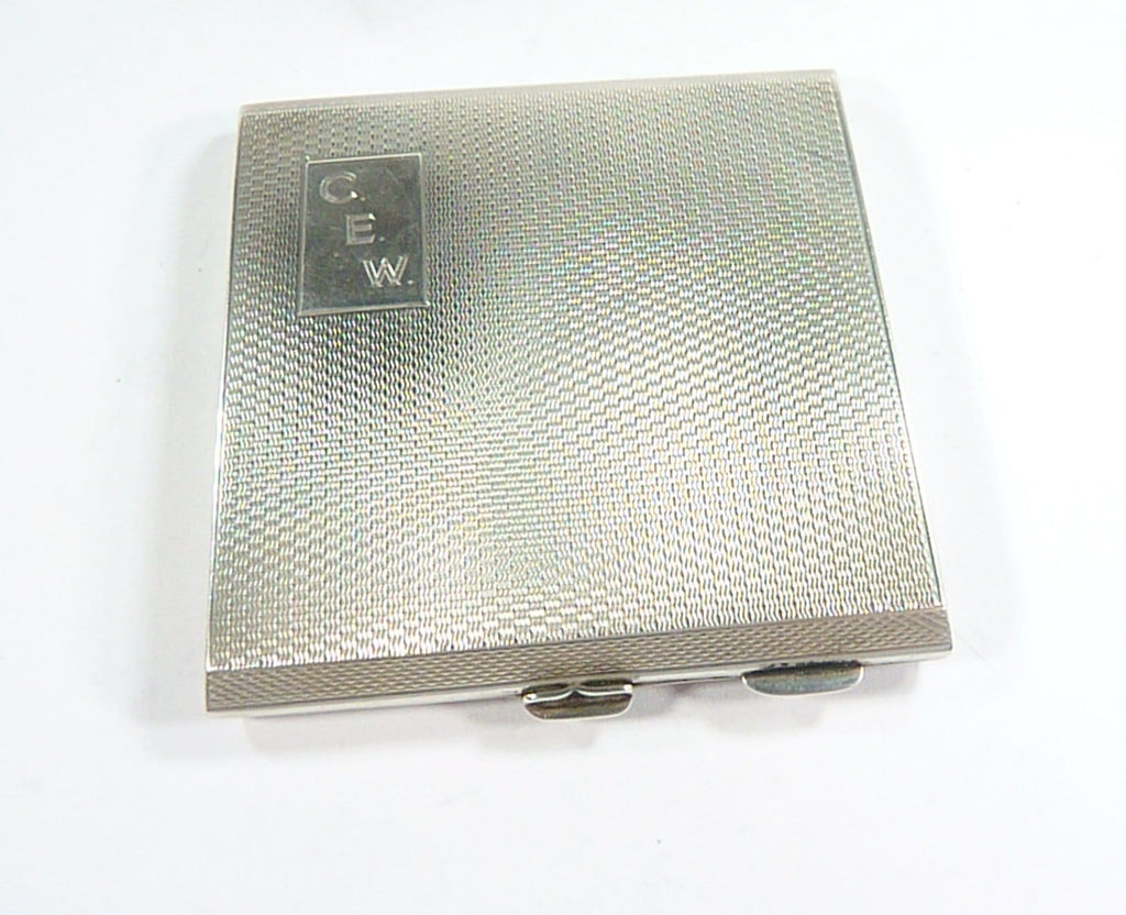 Initials C E W Sterling Compact