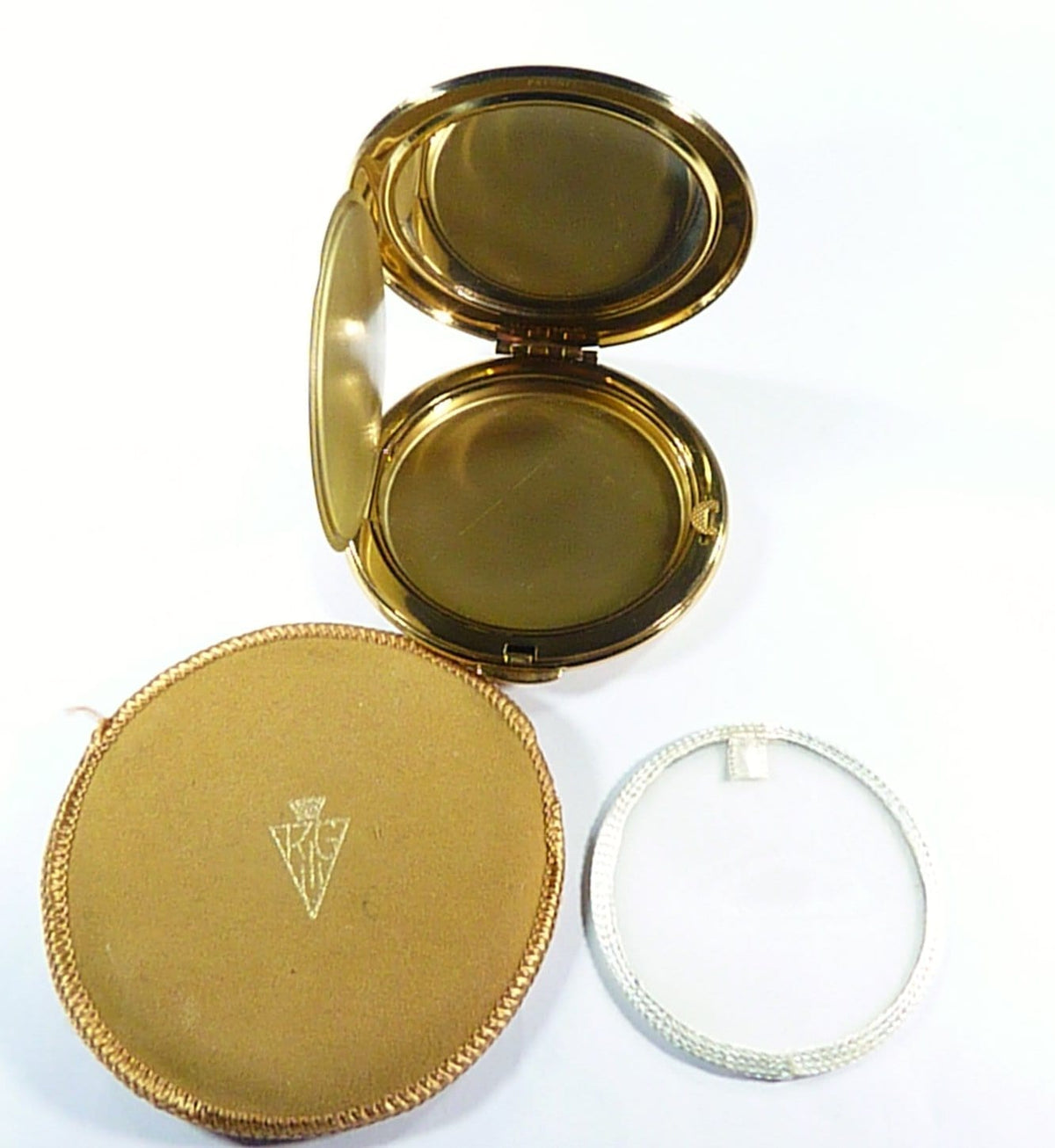 Unused Refillable Loose Powder Compact Case 1960s Kigu