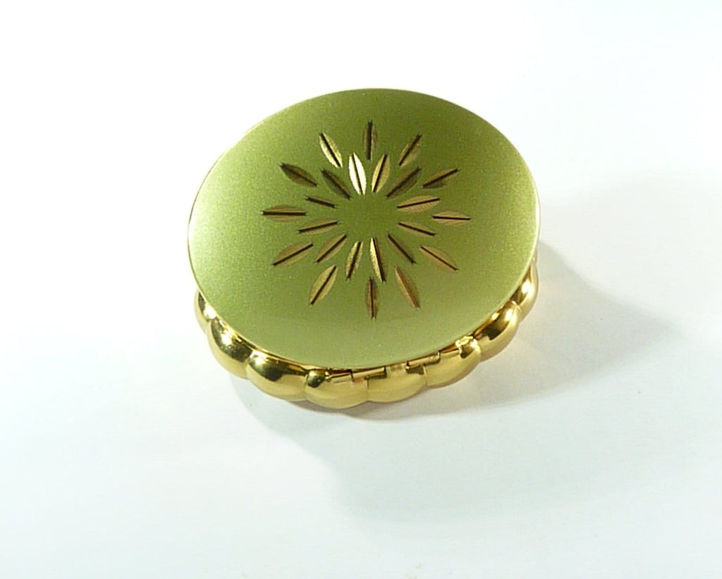 Kigu Musical Compact Mirror Green And Gold