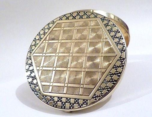 L T Piver Art Deco powder compact