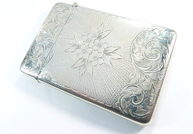 Ladies Antique Engraved Business Card Case