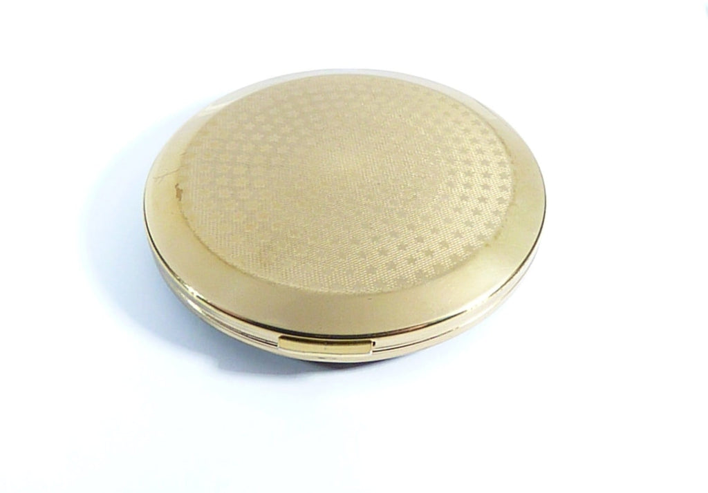 Large Black And Gold 1960s Powder Compact
