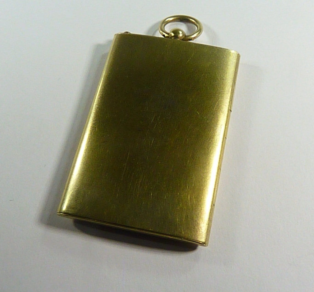 Large Gold Plated Rectangle Shaped Pendant