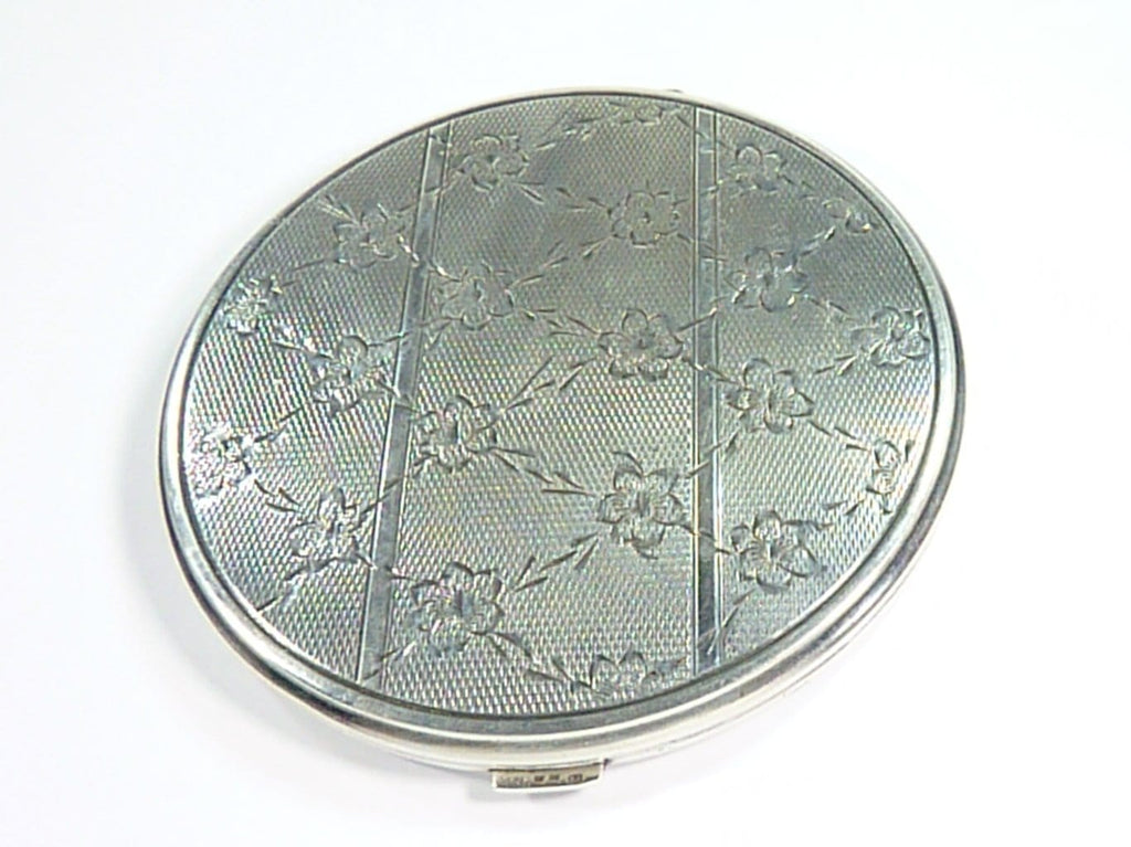 Large Hallmarked Silver Loose Powder Compact