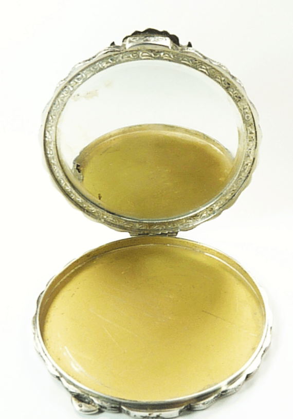 Late 1930s Silver Austrian Compact Mirror
