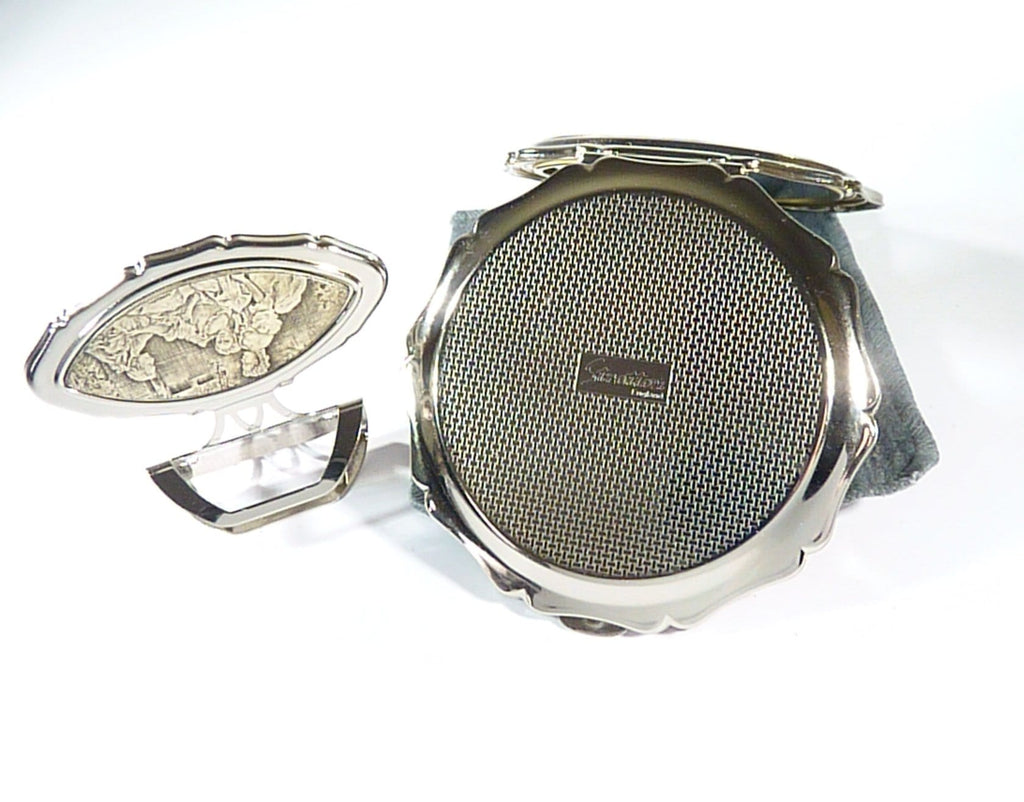 Late 1980s - 1990s Silver Plated Stratton Vanity Set