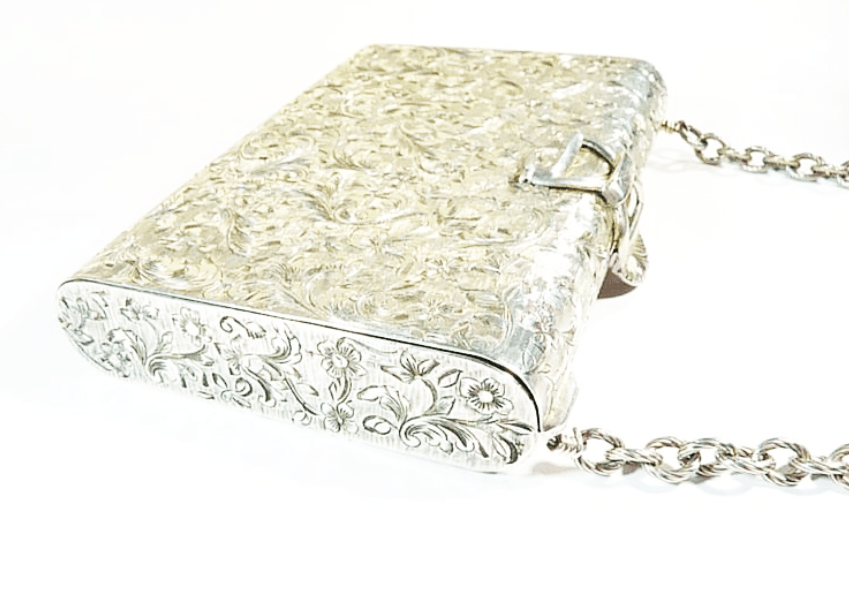 Luxury Silver Bridal Clutch