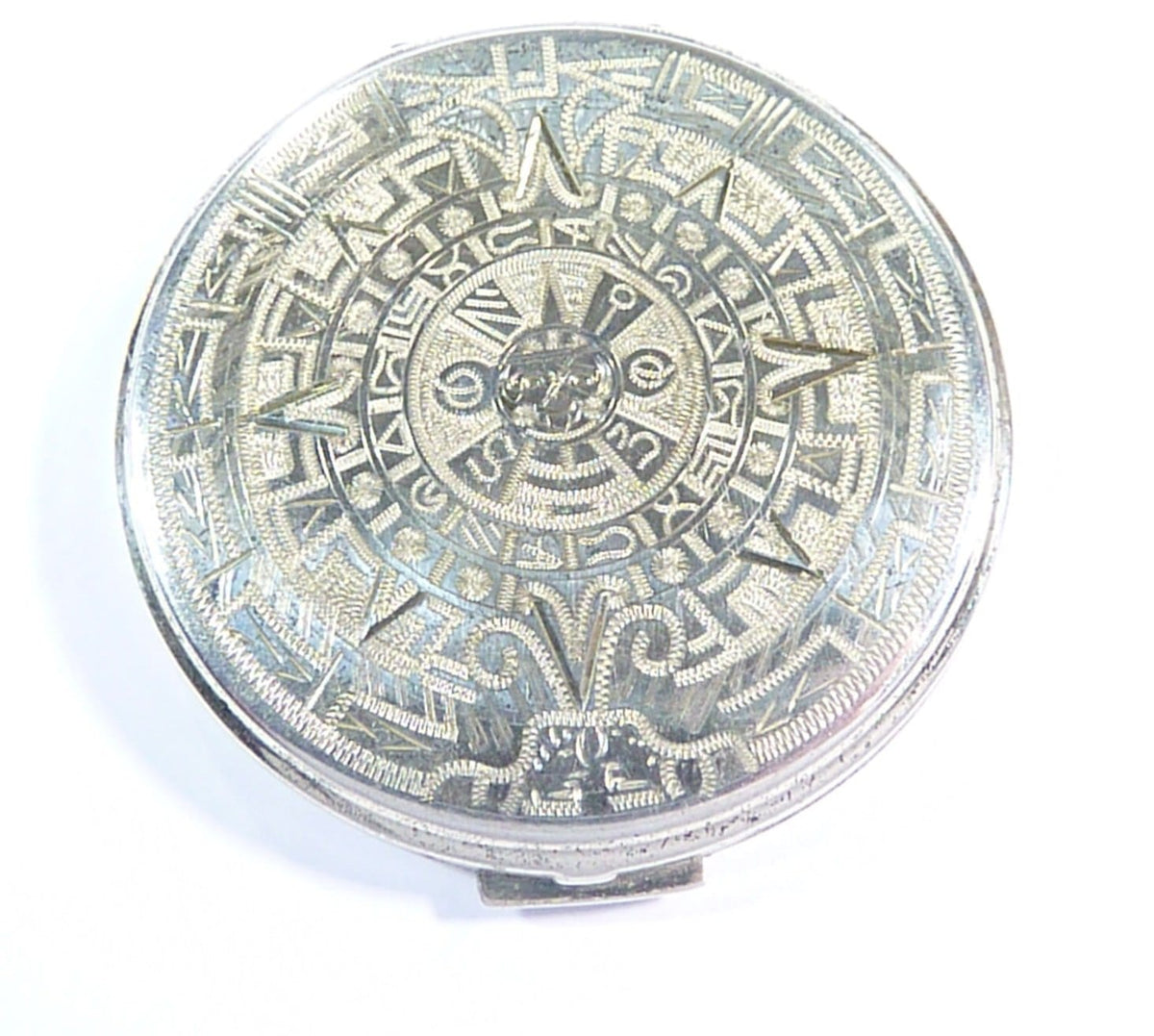 Mayan Calendar Sterling Compact Mirror
