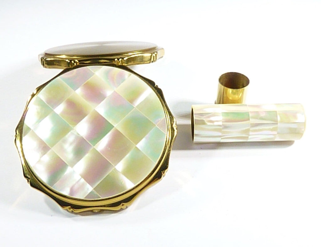 Mother Of Pearl Compact Matching Lipstick