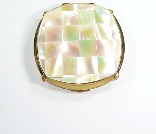 Mother Of Pearl Vintage Stratton Compact Mirror