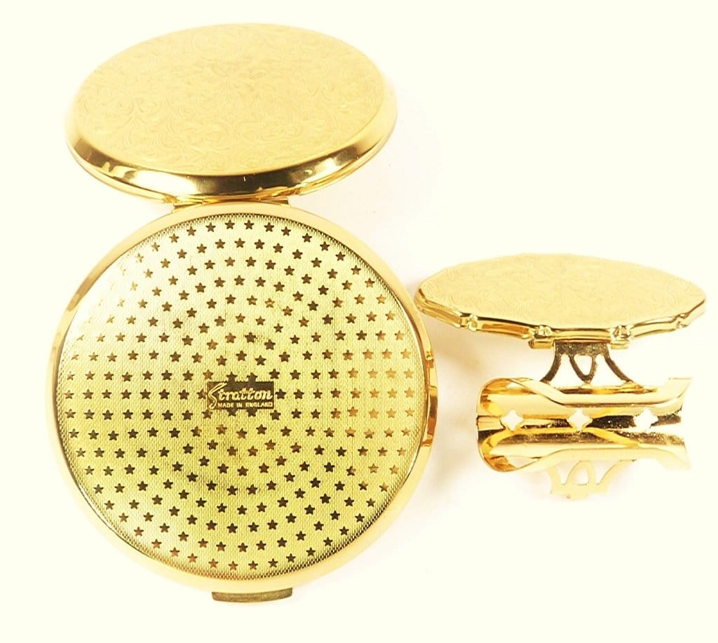 Ornate Golden Scrollwork Stratton Compact Set