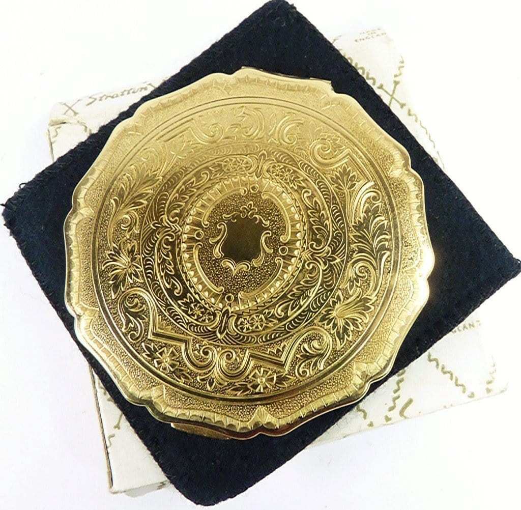 Ornate Old Compact Mirror