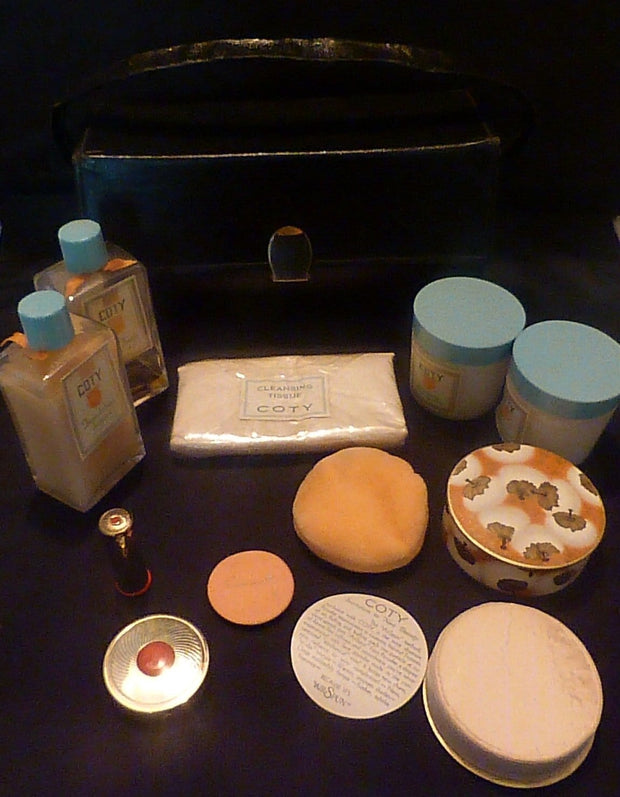 Vintage Compact And Lipstick Case Rare Vintage Coty Vanity Set