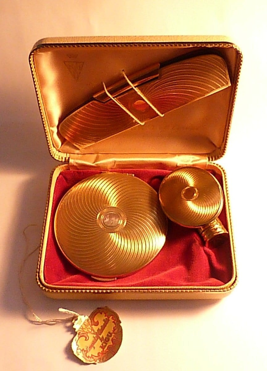 Vintage Kigu compact / cased vanity set vintage birthday gifts for her 1960s - The Vintage Compact Shop
