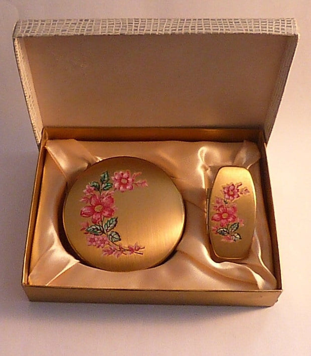 Vintage Melissa compact sets vintage bridesmaids gifts free world wide shipping - The Vintage Compact Shop