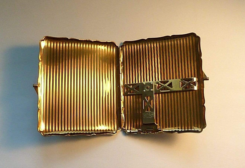 Stratton cigarette cases bird series 1950s enamel card cases - The Vintage Compact Shop