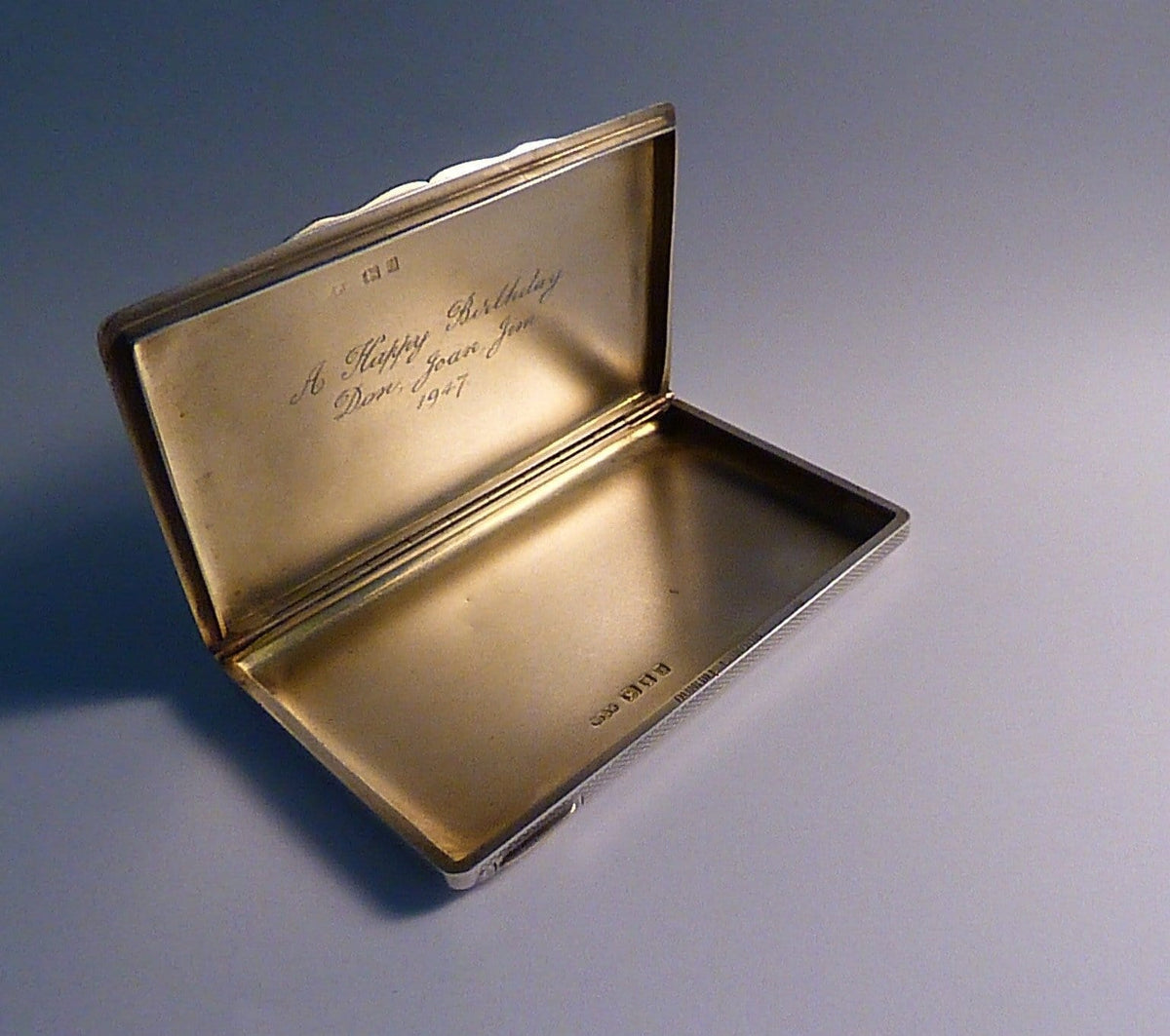 Art Deco cigarette cases sterling silver Dunhill cigarette / business card case 1924 silver wedding anniversary gifts - The Vintage Compact Shop