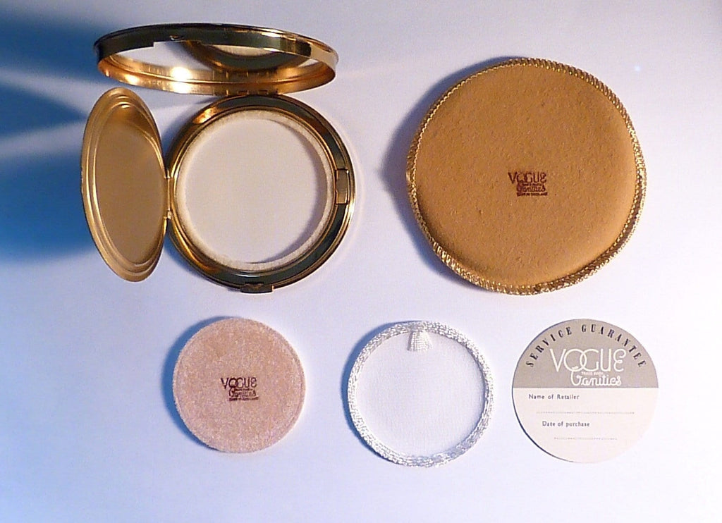 Rare unused compacts Vogue Vanities compact enamel compacts 1950s - The Vintage Compact Shop