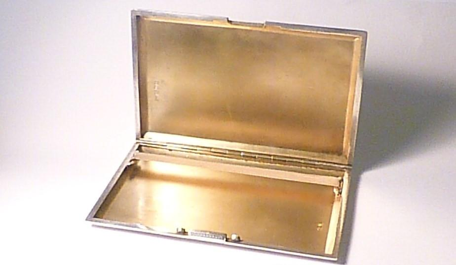 Sterling silver cigarette case Chester assayed silver 1920