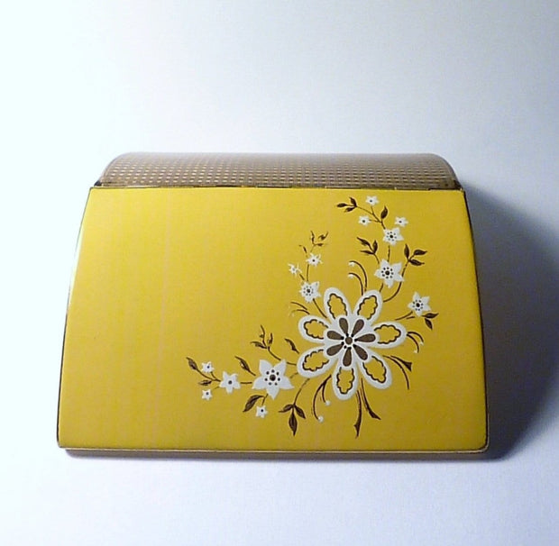 Cigarette cases for women 1950s enamel Melissa cigarette / credit card case