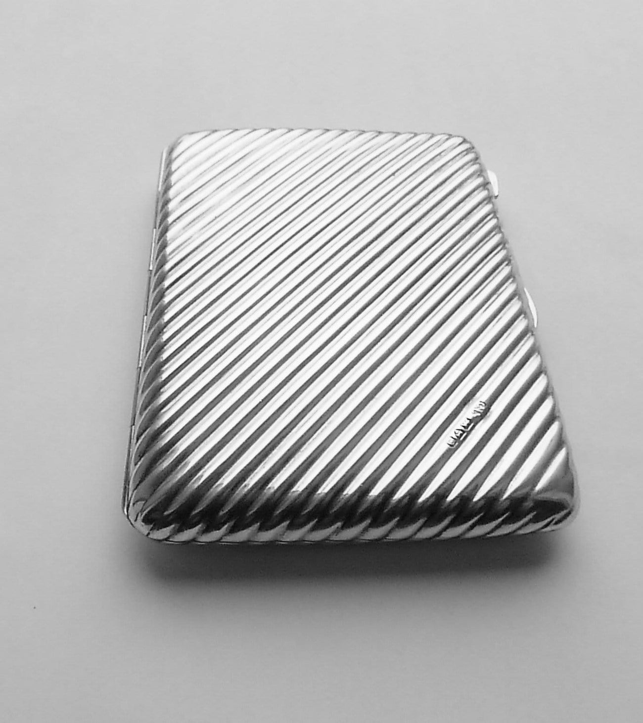 Edwardian silver cigarette case large sterling silver cigarette / card cases Colen Hewer Cheshire