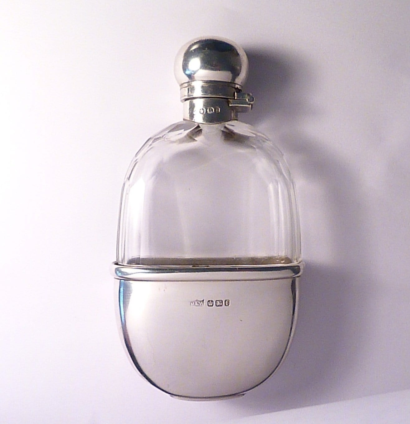Antique Mappin & Webb silver hip flask 1896
