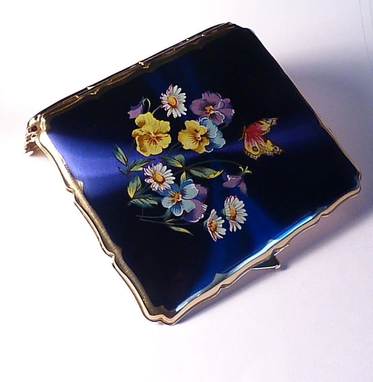 Women's cigarette holders mid-century antique Stratton cigarette case something blue gifts 1950s
