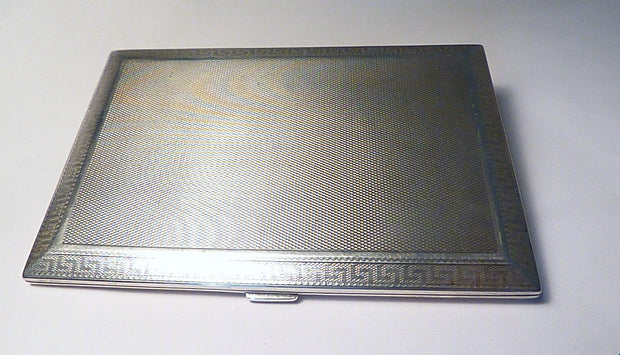Asprey Cigarette Cases Solid Silver Business Card Cases 1927 Chester Assayed Silver