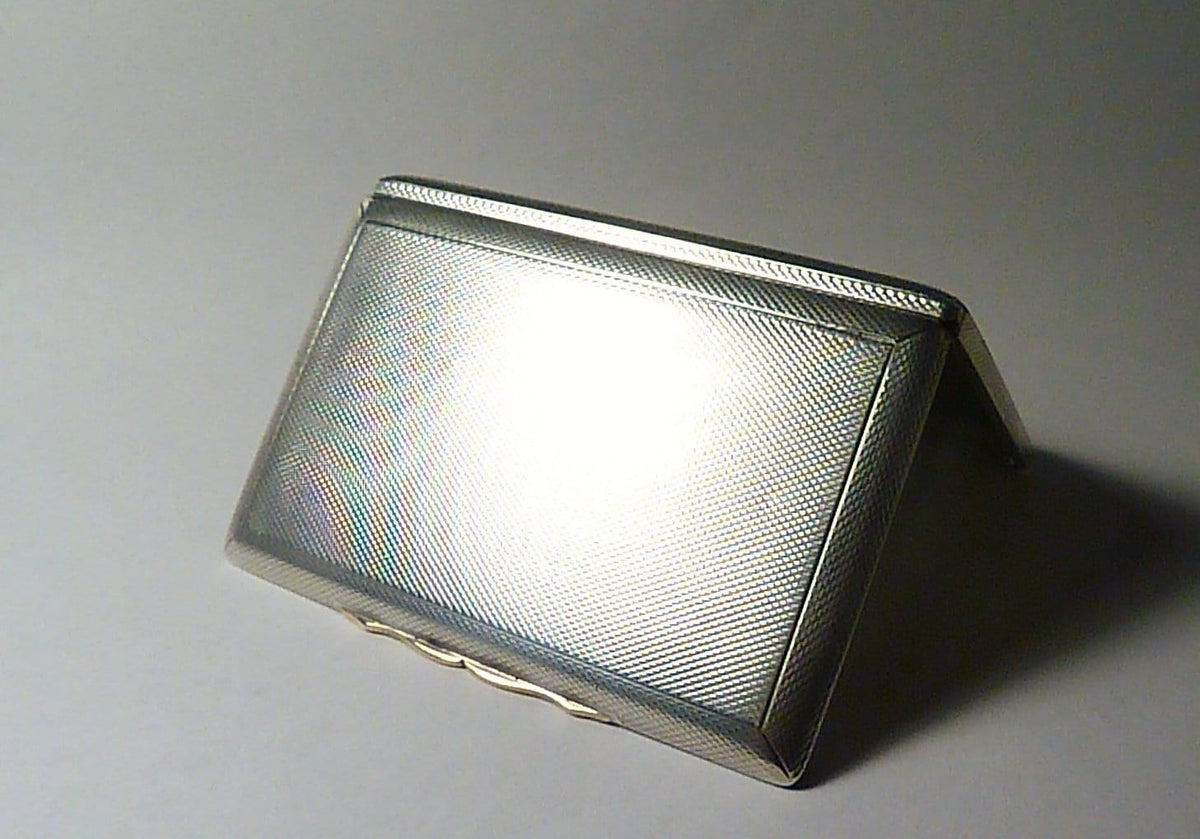 Art Deco cigarette cases sterling silver Dunhill cigarette / business card case 1924 silver wedding anniversary gifts