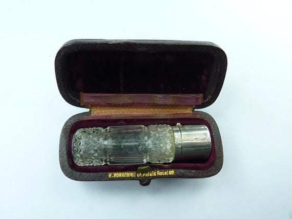 Antique cut glass perfume bottles Prudent Quitte E Bonhomme antique silver gifts for wives - The Vintage Compact Shop