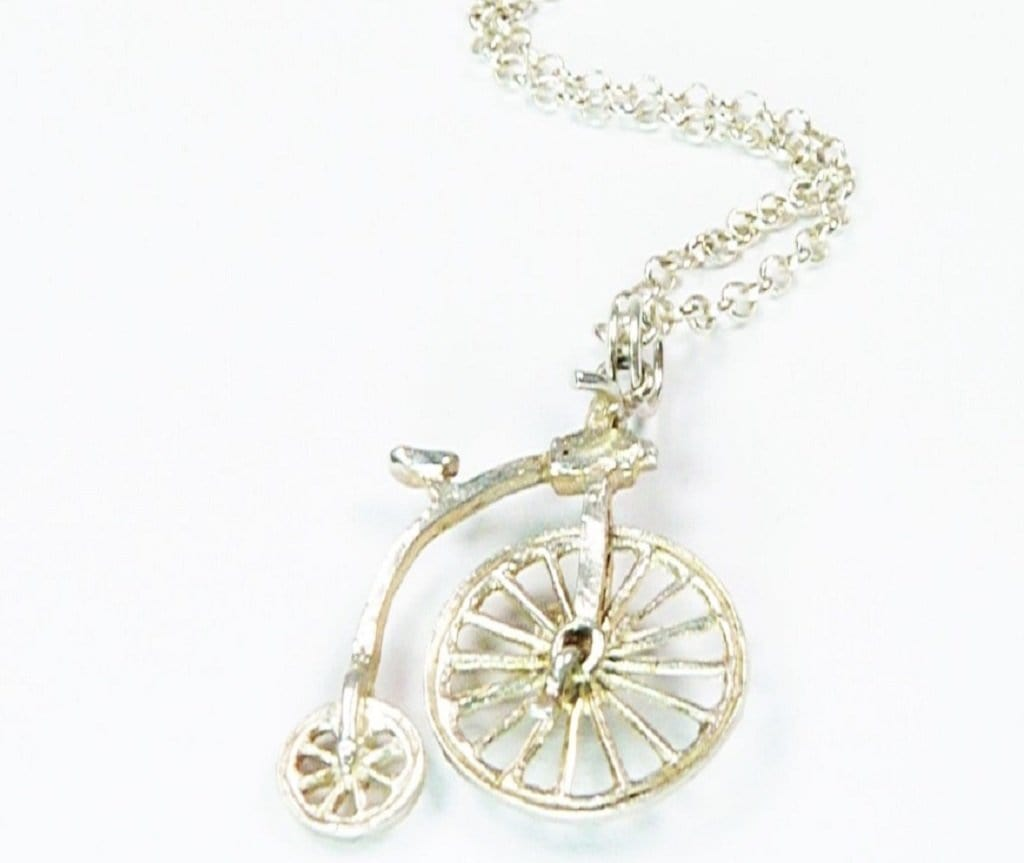 Penny Farthing Pendant Necklace