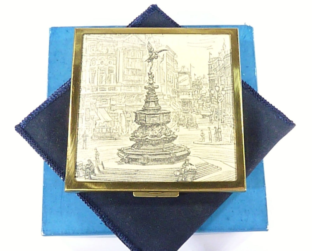 Piccadilly Circus Loose Powder Vintage Compact