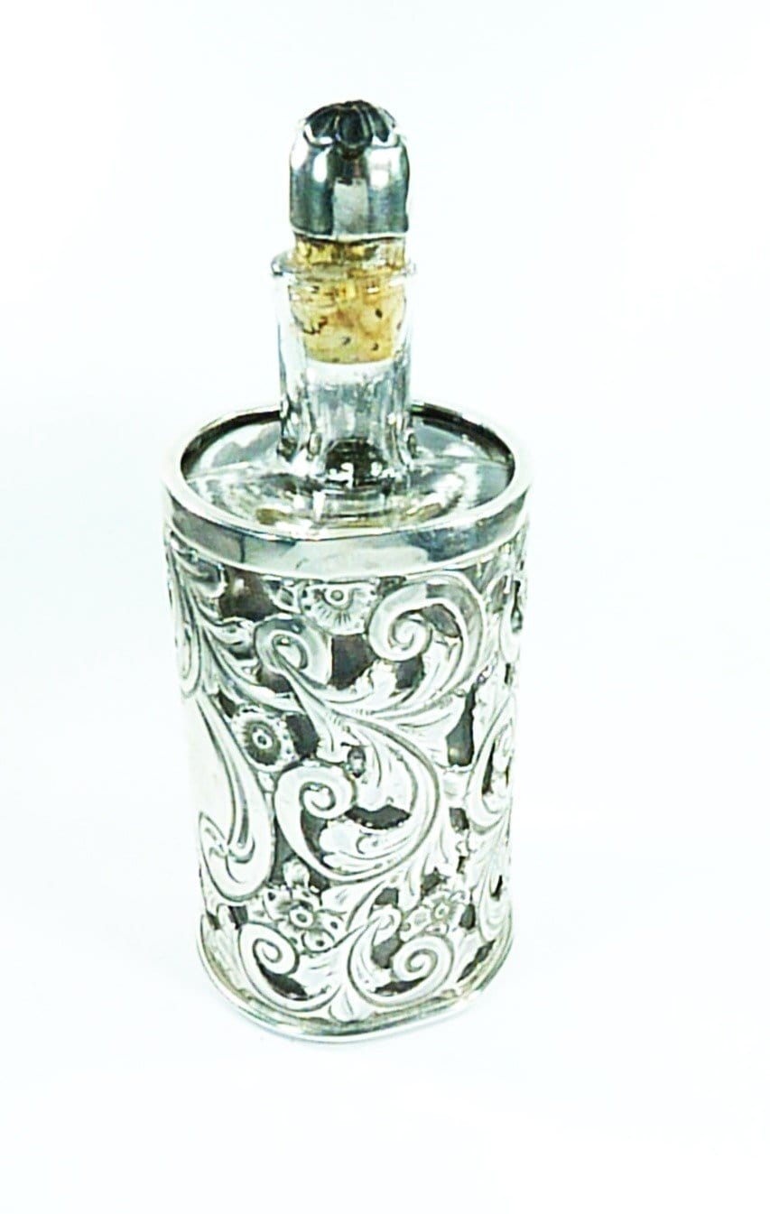 Pierced Sterling Silver Scent Bottle