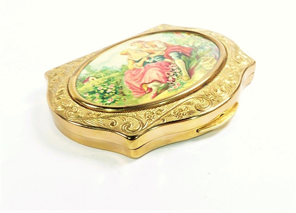 Pink Gold Green Refillable Makeup Compact