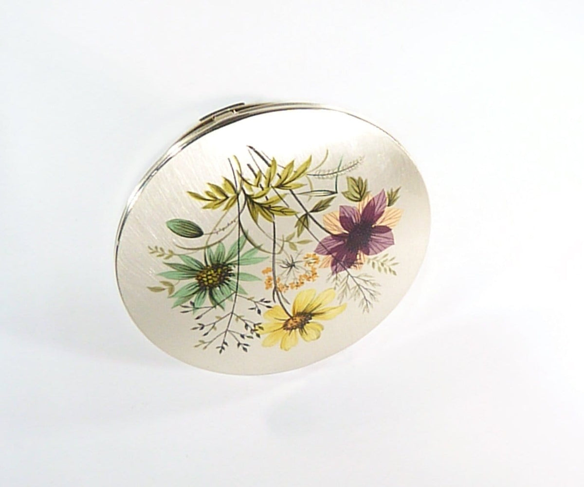 Pink Yellow Blue Compact Mirror 1970s