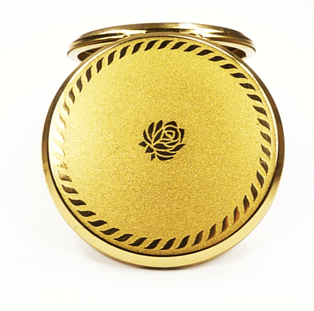 Powder Compact Case With Mirror Floral