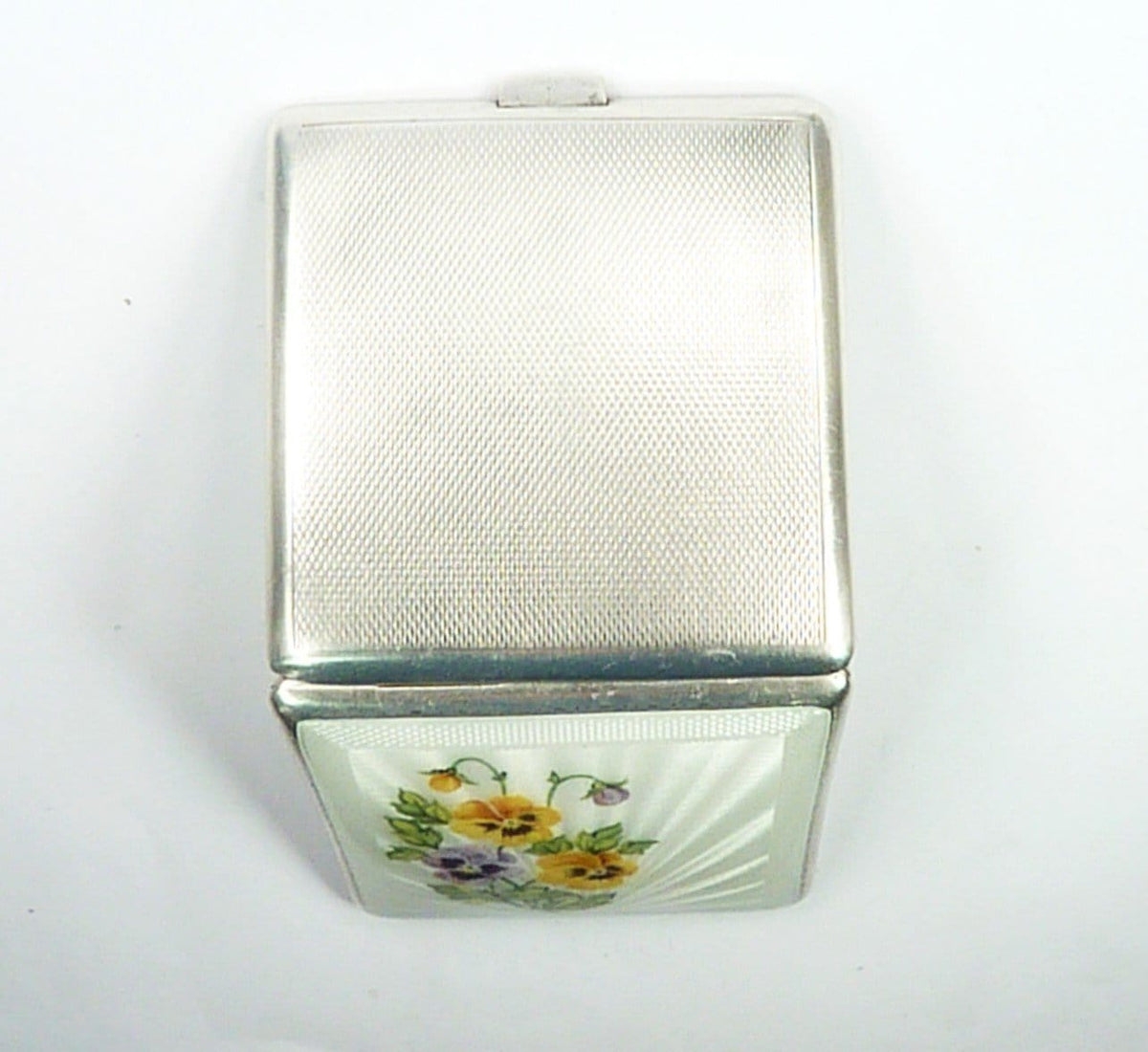 Powder Mirror Compact Enamel Flowers