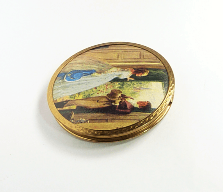 Rare Vintage Stratton Compact Georgian Couple