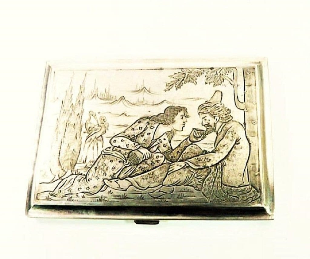 Rare Antique Silver Card Case