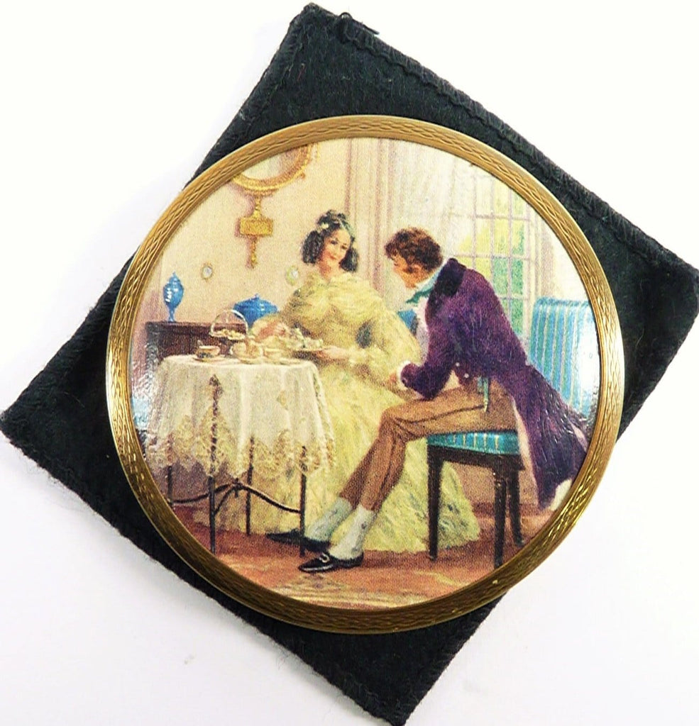 Rare Antique Stratton Powder Compact Georgian High Tea