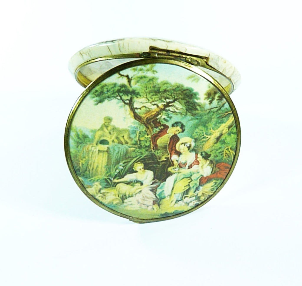 Rare French Celluloid Powder Compact