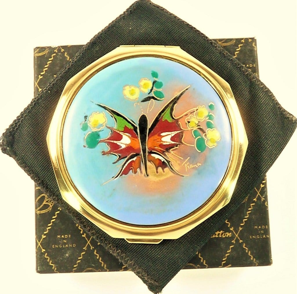 Rare Stratton Butterfly Powder Compact