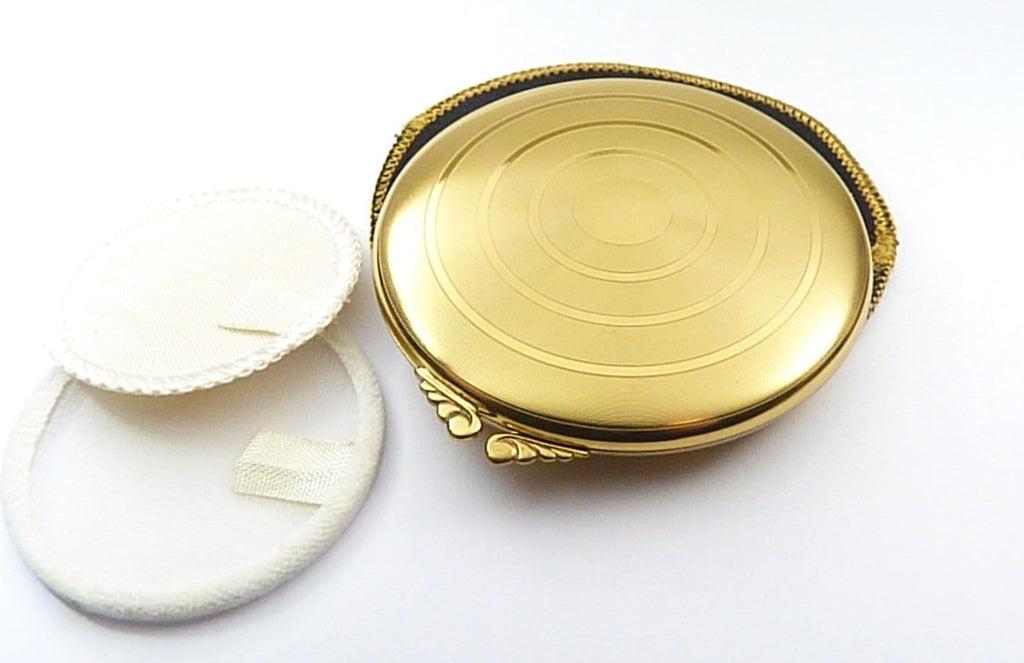 Refillable Loose Powder Compact Art Deco