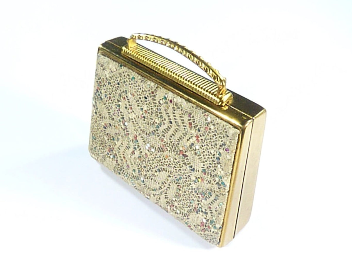 Sequin Vintage Musical Compact Mirror