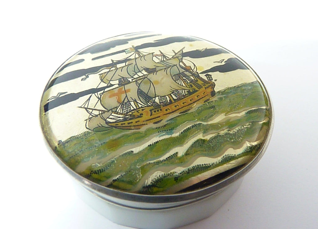 Ship Themed Antique Dressing Table Accessories