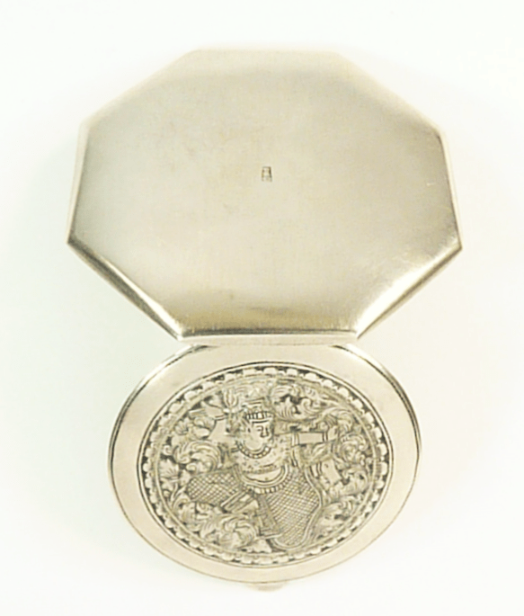 Siam Sterling Compact Mirror Vintage